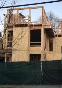 struttura di casa di legno a Seattle