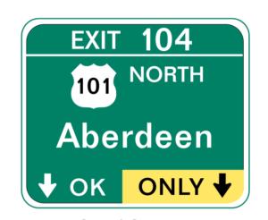 cartello dell'autostrada americano