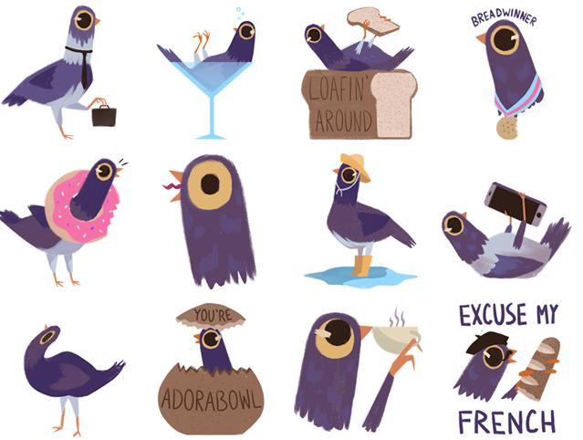 Tutte le bacheche invase dai piccioni viola