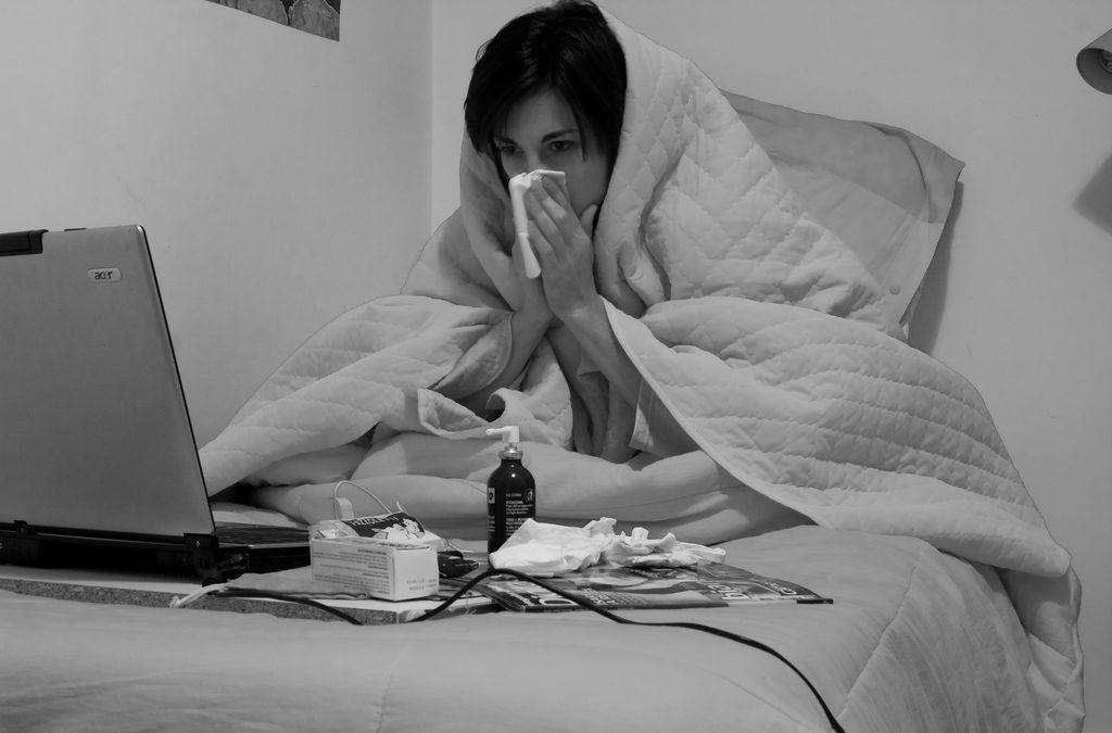 Raffreddore: cipria e naso che cola
